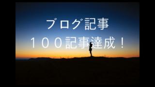 ブログ記事100記事